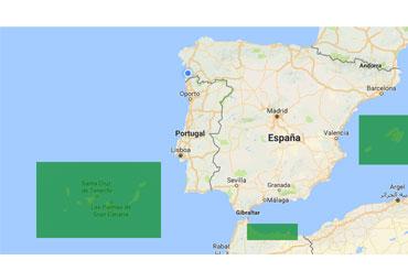 Islas Canarias, Ceuta, Melilla y Baleares
