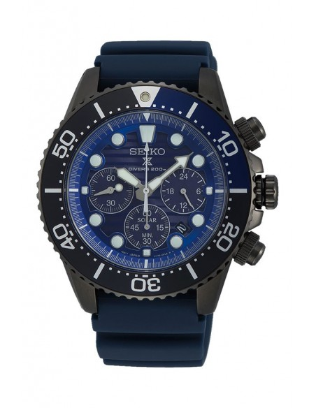 "Montre SSC701P1 Seiko Solar Prospex Diver´s 200 m ""Save The Ocean"" Black Series"