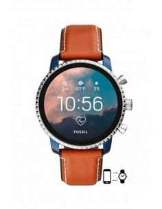 Montre FTW4016 Fossil Smartwatch - Q Explorist HR Tan Leather