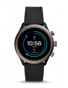 Fossil FTW4019 Smartwatch | Venture HR Black Silicone Generation IV