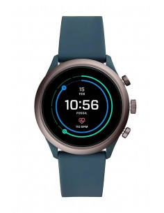 Reloj FTW4021 Fossil Smartwatch | Venture HR Smokey Blue Silicone Generation IV