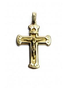 Colgante Cruz con Cristo 18 K CR2012