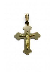 Colgante Cruz con Cristo 18 K CR1015