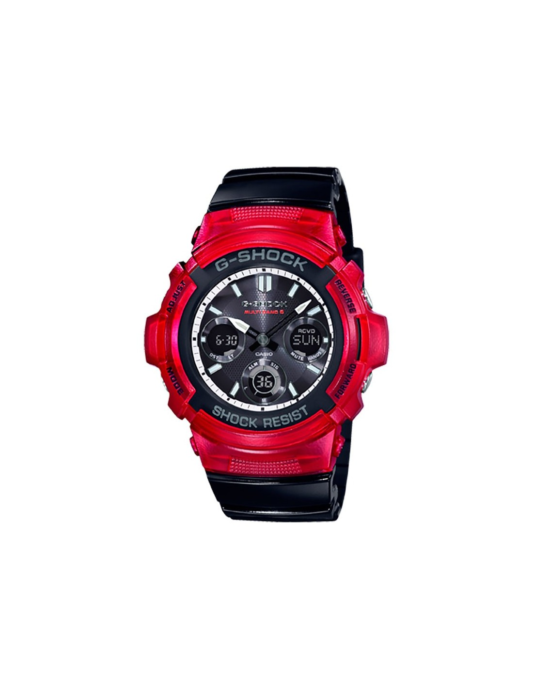 Awg M100srb 4aer Casio Watch G Shock G Shock Black And Red