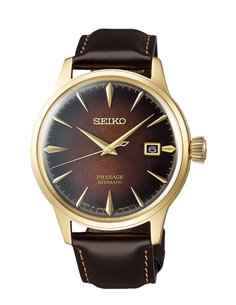 """Seiko SRPD36J1 Automatic Presage Cocktail """"Old Fashioned"""" Watch"""