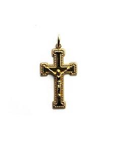 Colgante Cruz con Cristo 18 K CR1010