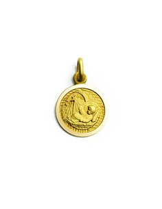 Colgante Oro 18 K Medalla Ángel de la Guarda 298SR0