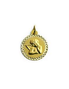 Colgante Oro 18 K Medalla Ángel de la Guarda N118-7