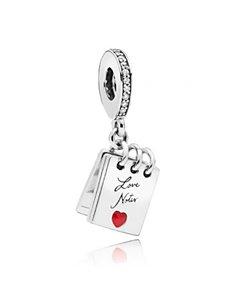 Charm Pandora 797835CZ Bloc-notes avec des notes d'amour