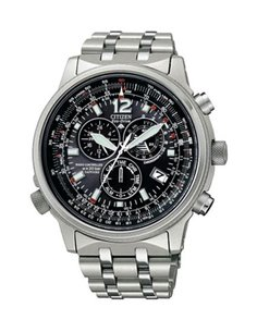 Citizen AS4050-51E Watch Eco-Drive Radio Controlled PILOT