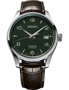 "Seiko SPB111J1 Automatic Presage Limited Edition ""Green Enamel Dial"" Watch"