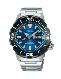 "Seiko SRPE09K1 Automatic Prospex Diver ""Monster"" Save The Ocean Watch"