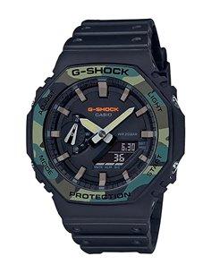 Relógio GA-2100SU-1AER Casio G-Shock & G-Carbon UTILITY COLORS MILITARY