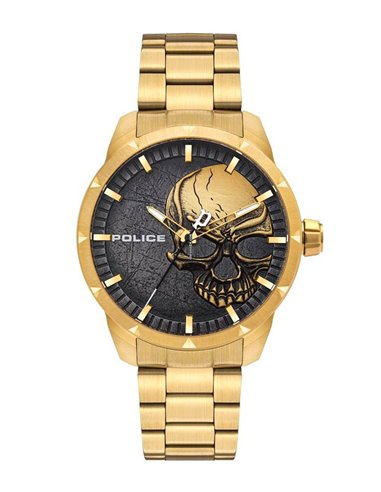 Police PL15715JSG/78M Watch NEIST SKULL GOLD