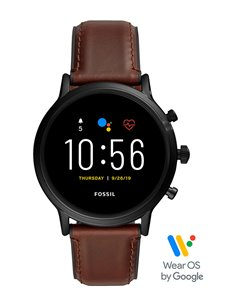 Reloj FTW4026 Fossil Smartwatch The Carlyle HR Dark Brown Leather