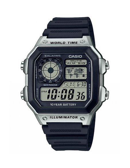 Casio AE-1200WH-1CVEF Watch COLLECTION WORLD MAP