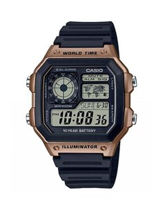 Casio AE-1200WH-5AVEF Watch COLLECTION WORLD MAP