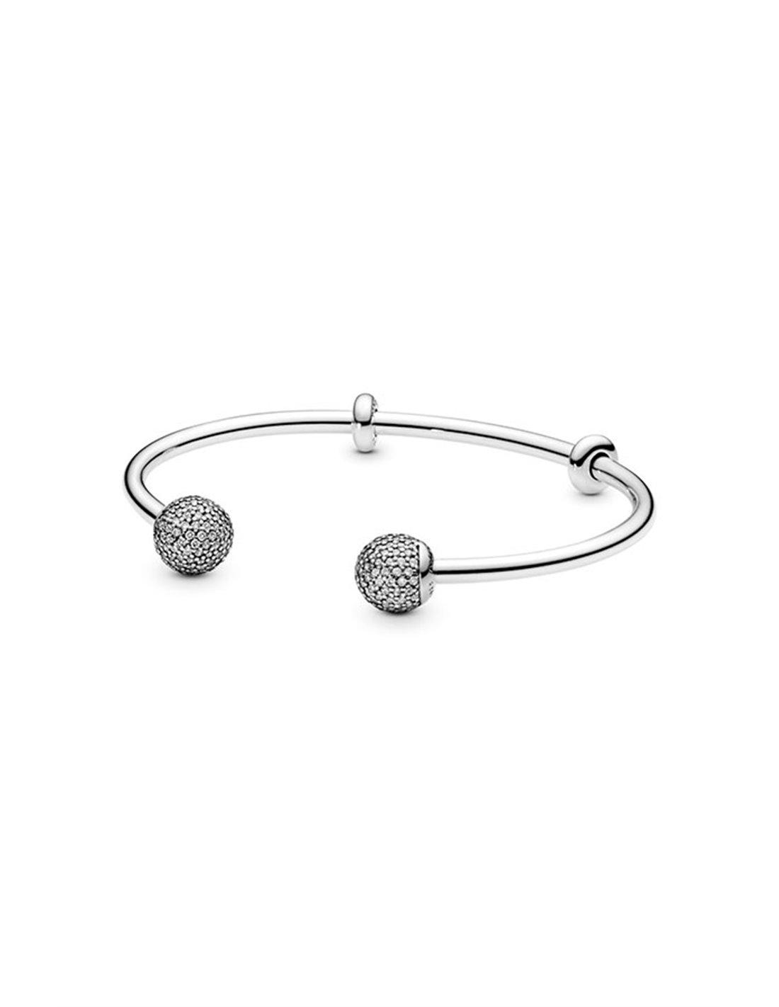 596438cz 2 Pandora Bracelet Silver Rygid