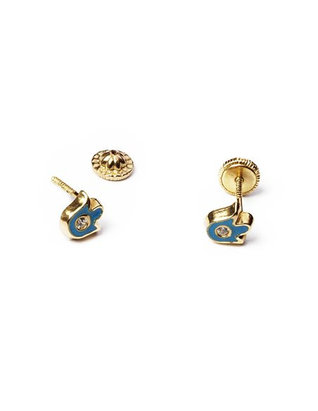 18 K Gold Earrings BABY Small Tulips 16011A