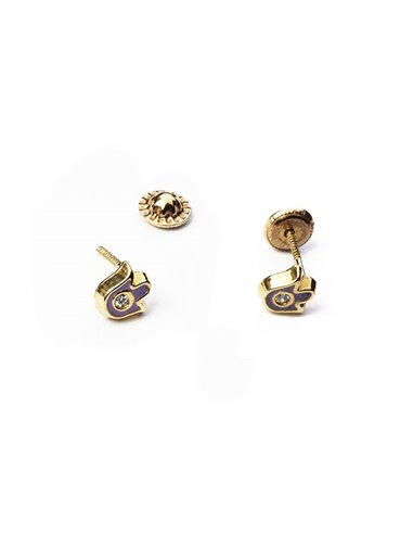 18 K Gold Earrings BABY Small Tulips 16011T