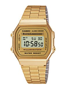 Casio A168WG-9EF Collection GOLD Watch