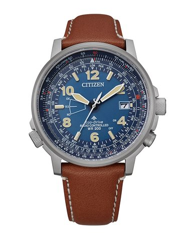 Citizen CB0240-11L Watch Eco-Drive Radio Controlled PILOT H145