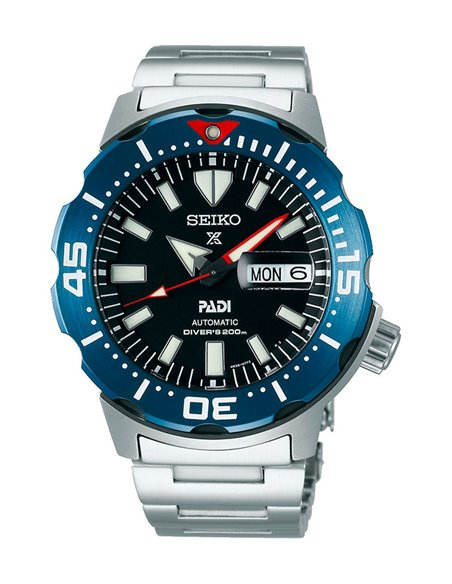 "Seiko SRPE27K1 Automatic PROSPEX Diver ""Monster"" PADI Watch"