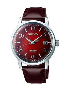 """Seiko SRPE41J1 Automatic Presage Cocktail """"The Negroni"""" Special Package Watch"""