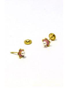 18 K Gold Earrings 01576-P