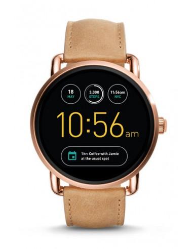 2d135301a33a Descatalogado Reloj Fossil Smartwatch - Q Wander Light Brown FTW2102