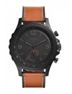 Montre Fossil Smartwatch Hybride - Q Nate Dark Brown FTW1114