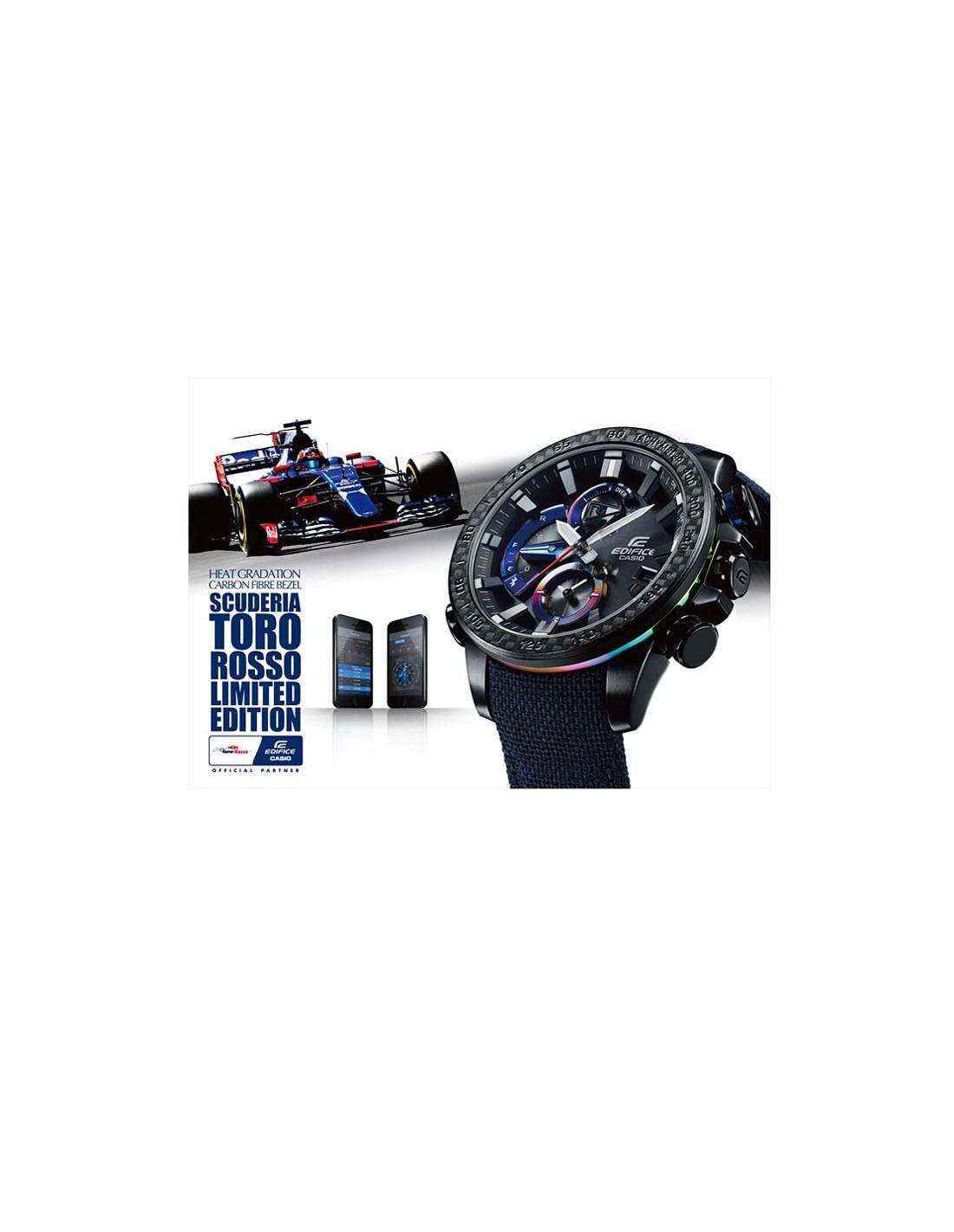 d2ee5c4d62d ... Relógio Casio EDIFICE BLUETOOTH® EDIÇÃO LIMITADA TORO ROSSO  EQB-800TR-1AER ...