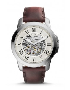 Fossil Automatic Watch Grant Dark Brown Leather ME3099