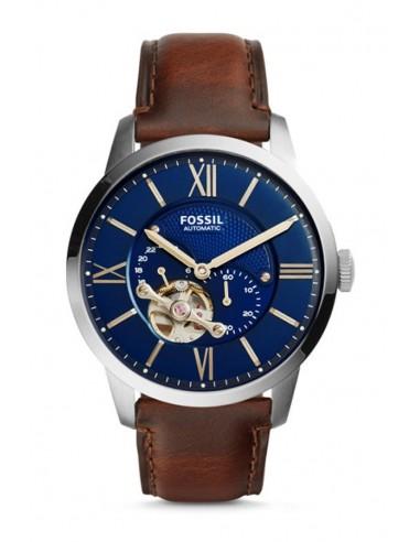 21a6a3b9a1a5 Reloj Fossil Automático Townsman Brown Leather ME3110