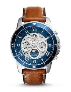 Fossil Automatic Watch Grant Sport Luggage Leather ME3140
