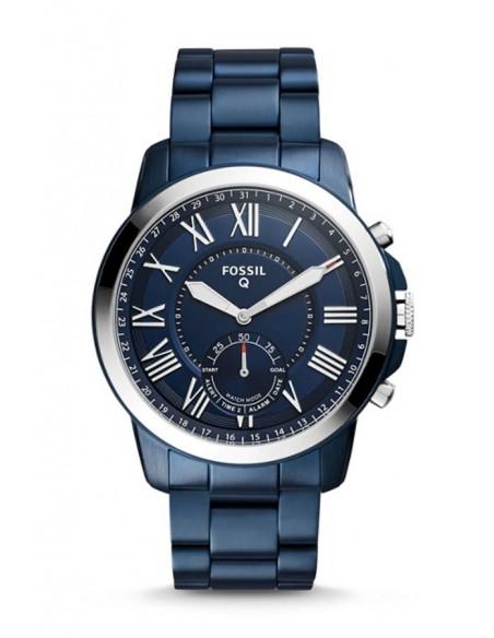 Reloj Fossil Smartwatch Hibrido - Q Grant Navy Blue FTW1140