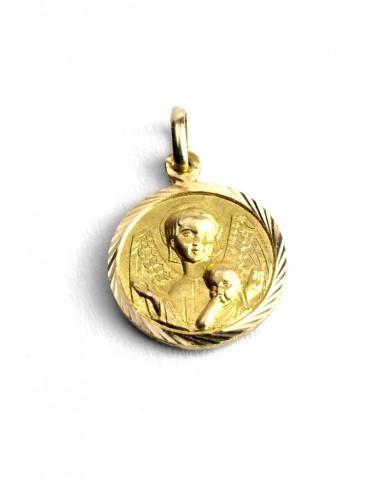 Colgante Oro 18 K Medalla Ángel de la Guarda AGJ291