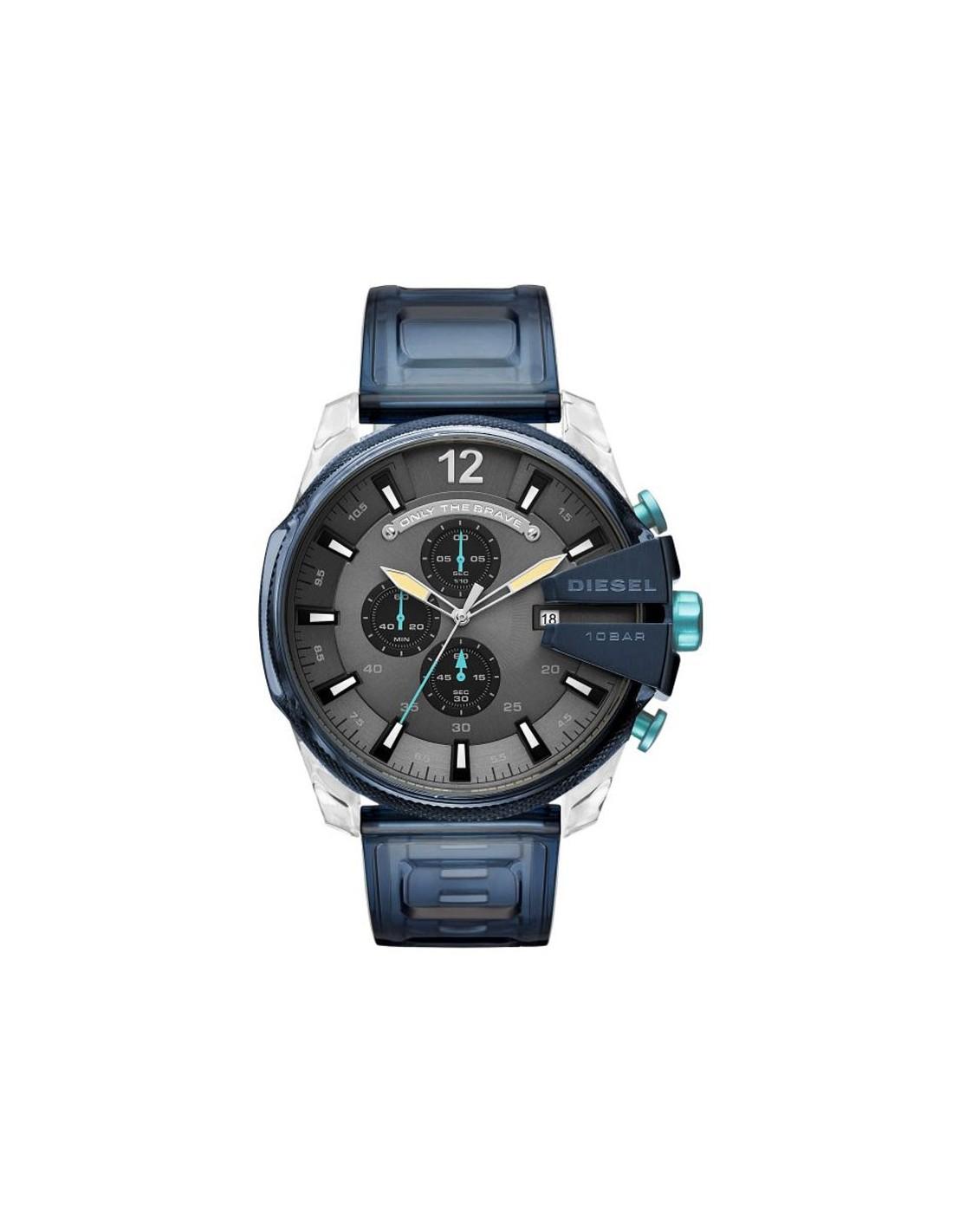 500389186cee Reloj Diesel Heavy Transparent Mega Chief DZ4487 ...