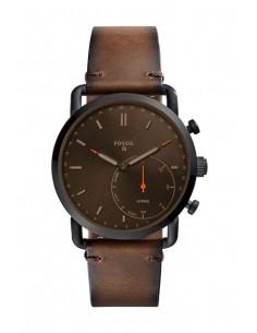 Reloj Fossil Smartwatch Hibrido - Q Commuter Dark Brown FTW1149