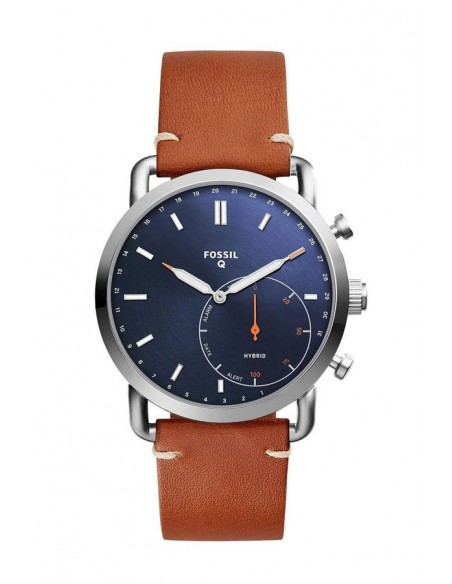 Reloj Fossil Smartwatch Hibrido - Q Commuter Luggage Leather FTW1151