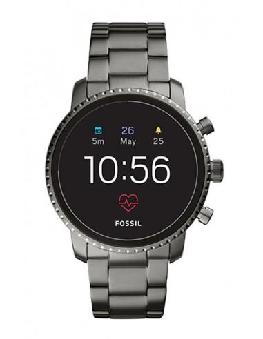 Reloj Fossil Smartwatch - Q Explorist HR Smoke Stainless Steel FTW4012