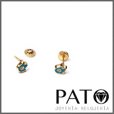 Earrings Gold 18k 16011A
