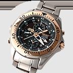 El primer reloj del mundo Diver´s 200m con un indicador analógico de profundidad