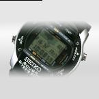 El reloj Diver´s 200m, con un indicador de profundidad y de la temperatura del agua